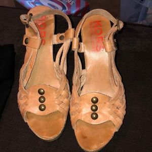 Authentic Michael Kors Wedge Heels Size 7